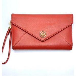 {Tory Burch}Leather Envelope Clutch Wristlet